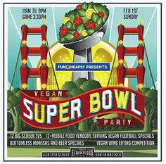 How cool is this!!?? A Vegan Superbowl Party!! <3 #MyVeganJournal