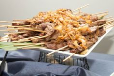 Steak Kabobs with Caramelized Onions - LA Spice Catering