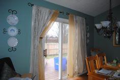 Double Curtain Rod over sliding glass door