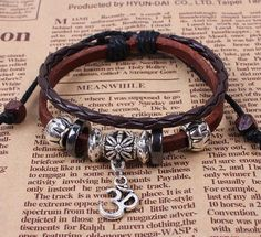 Yoga braceletBrown leather bracelethandwoven by huaxinwawa on Etsy, $4.99