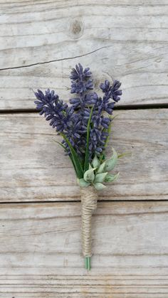 PURPLE LAVENDER Buttonhole Wedding by AdelaideFlowerMill on Etsy