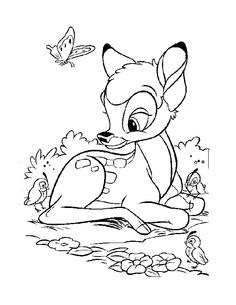 Bambi Coloring Pages For Kids Printable Online Coloring 4 Color