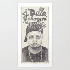 J Dilla Art Print by Vannia  - $16.00 #JDilla