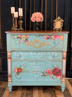 SOLD Empire style antique chest of drawers Decoupage Furniture, Chalk Paint Furniture, Hand Painted Furniture, Funky Furniture, Refurbished Furniture, Repurposed Furniture, Shabby Chic Furniture, Furniture Making, Furniture Ideas