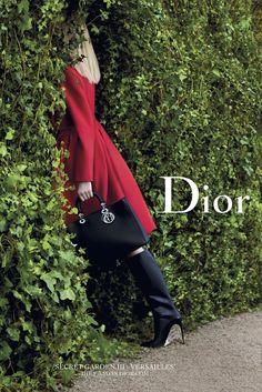"Daria Strokous Poses in Versailles for Diors ""Secret Garden"" 2014 Campaign"