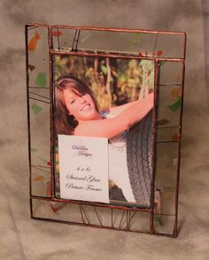 Fall Confetti Stained Glass Picture  Frame 4X6 by DeeLuxDesigns, $16.00