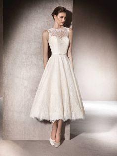 Vestido de novia evase Micol