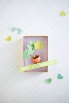 Miniature Shamrock Mailer. Such a simple gift idea for St. Paddy's Day!