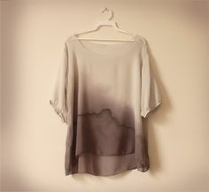 gray silk chiffon blouse by wytheshop on Etsy