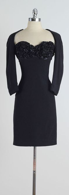VICTOR COSTA . vintage 1980s dress . vintage by millstreetvintage