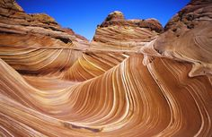 The Wave, Coyote Buttes in the Paria Canyon-Vermilion Cliffs Wilderness, Utah/Arizona