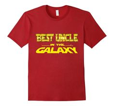 Mens Best Uncle In The Galaxy Funny T-Shirt Cool Uncle Gift