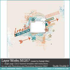 - Layer Works No. 267 - Digital Scrapbooking Templates DesignerDigitals