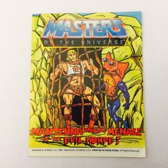MANTENNA MENACE OF THE EVIL HORDE Mini Comic He-Man Masters of the Universe MOTU