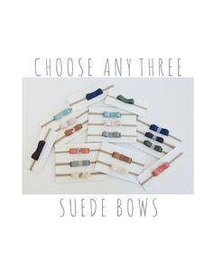 Suede Headband Set 3 Pack Small Simple Baby Newborn by GrazieMamma