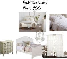 """""""Romantic White Bedroom"""" by kristina-law on Polyvore"""