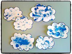 des nuages en peinture, activité météo, printemps, été