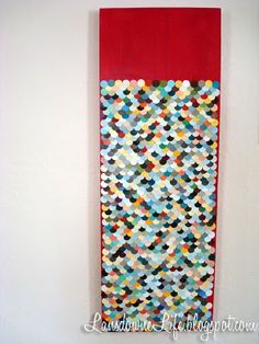 paint chip mosaic #paint chip #mosaic