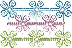 Ideas for crochet edging scarf ganchillo Crochet Scarf Diagram, Crochet Flower Scarf, Crochet Edging Patterns, Crochet Motifs, Crochet Chart, Crochet Flowers, Crochet Lace, Knitting Patterns, Lace Scarf