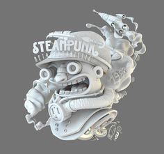 STEAMPUNK 3D by 1800 salvation, via Behance