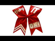 How to put text on a cheer bow with Lisa Pay - YouTube