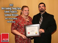 Soybean Division OYFF winners and finalists Ben & Jessica Johnson of DeKalb County Young Farmers, Dekalb County, Create Awareness, Division, Alabama, Conference, Leadership, Public, Tours