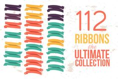 112 Ribbons the Ultimate Collection by IB on @creativemarket