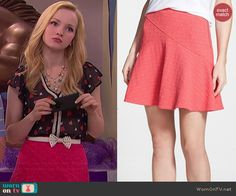 Liv's heart print blouse and red polka dot skirt on Liv and Maddie. Outfit Details: https://wornontv.net/41219/ #LivandMaddie