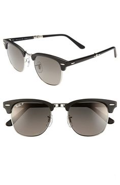 857cfb5031 Ray-Ban  Clubmaster  51mm Polarized Folding Sunglasses available at   Nordstrom Cheap Ray
