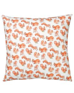 Squirrel Cushion Cover by Stefani Pisani for the Graduate Collection. Available at #thepatterncollective