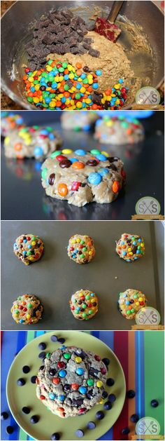Monster Cookies: oatmeal chocolate chip mm cookies.
