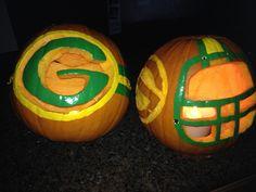 Green Bay packer pumpkins!