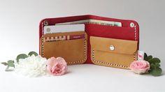 Wallet case Money clip wallet Woman wallet Leather by creamcaroll