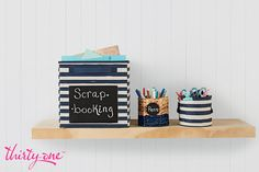 Keep scrapbooking essentials in reach.