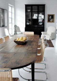 8 Insane Ideas: Dining Furniture Design Home painted dining furniture black chairs.Dining Furniture Makeover Restoration Hardware dining furniture makeover how to paint. Dining Furniture, Dining Room Table, Dining Area, Kitchen Dining, Furniture Ideas, Dining Rooms, Dining Chairs, Wood Table, Rustic Table