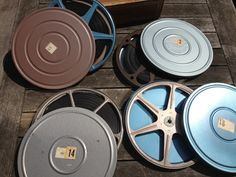 Vintage 8mm Film Canisters with Reels