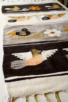 tribal woven rug southwest wall hanging bird motif by bohemiennes