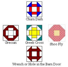 Easy Barn Quilt Patterns | Can you spot the differences that make the blocks different?