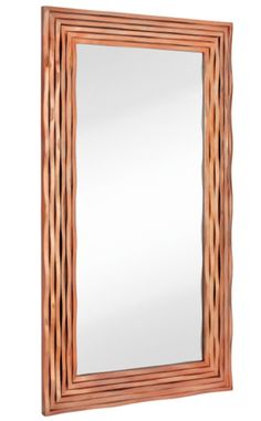 "INFORMATION:  Features:  Frame Material: Polyurethane Brand: Majestic Mirror Wall Mounted Polished Rose Gold Finish Contemporary Style Oversized Floor-Length Mirror Manufacturer provides 1 year warranty Ships free! Weight and Dimensions:  Overall Dimensions: 80"" H x 44"" W Overall Weight: 88 lbs."