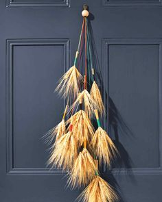 Fall Door Decor: Wheat Cluster