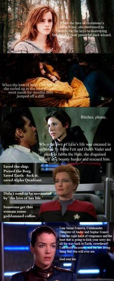 Thank you- yes! I missed Buffy on here, she was awesome and I loved the Bablyon 5 series... particular Ivanova