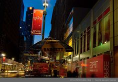 34th Street at Night, across the street from the Empire State Building. New York City Photos