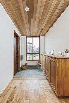 造作家具にこだわったお店のような平屋のお家 I様邸 | 【公式】チェックハウス Wood Wallpaper, Wood Ceilings, My Dream Home, Divider, Interior Design, Mirror, Room, House, Furniture