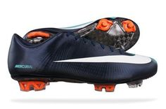 Nike Mercurial Vapor Superfly II FG Mens soccer Boots / Cleats   Dark Blue on Sale