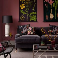 Moody living room Absolutely freaking gorgeous and so unusual–great for a winter's evening. Love the art. Charcoal Velvet Sofa, George Smith The post Moody living room appeared first on Decor Ideas. Living Room Designs, Living Room Decor, Living Rooms, Mauve Living Room, Bedroom Decor, Mauve Bedroom, Gothic Bedroom, Bedroom Colors, Pink Walls