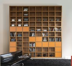 "Mazzali: ""Krea"" bookcase / libreria ""Krea"". Living and office area by MAZZALIARMADI.IT, via Flickr"