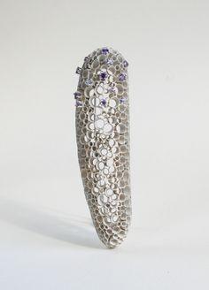 Anya Pinchuk - Brooch 2008. Silver, paint, sapphires