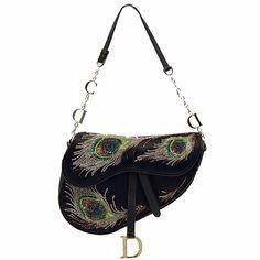 Christian Dior Satin Saddle Bag