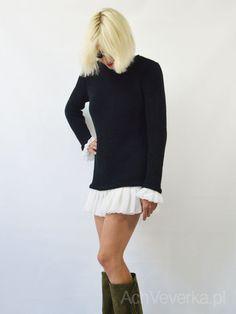 Dzianinowa sukienka Victoria AchVeverka.pl #małaczarna #sukienka #achveverka #blackdress #dress #sweater