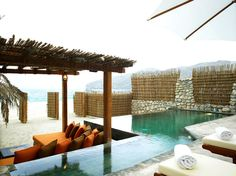 Beachfront Pool Villa, Zighy Bay, Oman lets gooo
